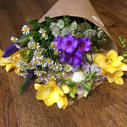 Bright bouquet of seasonal flowers to help celebrate a special occasion