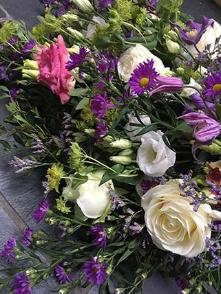 Funeral flowers and arrangements available from The Flower Shop, Bruton